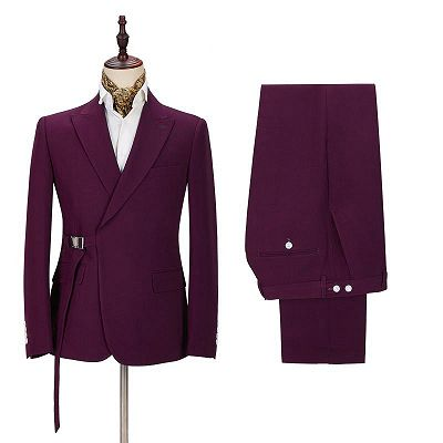 Zane Fashion Peaked Lapel Two-Pieces Cheap Men Suits Online_2