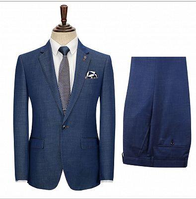 Stephen Dark Blue Cheap Simple Notched Lapel Men Suits Online_3
