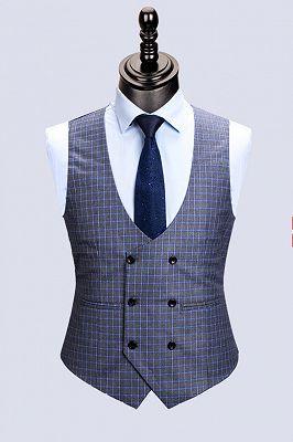 Jaylen Bespoke Plaid Notched Lapel Fitted Formal Business Men Suits_2