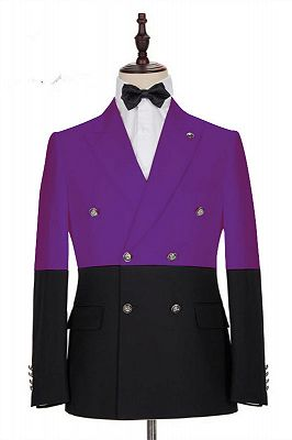 Emanuel Purple Double Breasted Peaked Lapel Prom Men Suits Online_1