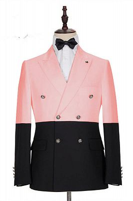 Maximus Pink Double Breasted Slim Fit Fashion Men Suits for Prom