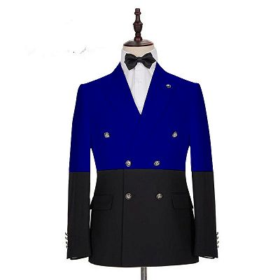 Ruben Royal Blue Double Breasted Fashion Men Suits_2