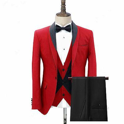 Jonas Red Three Pieces Fashion Shawl Lapel Men Suits for Wedding_2