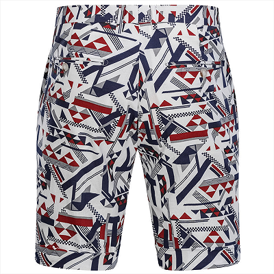 Fashion Short Men's Hot Summer Suits for Seaside | Peak Lapel Cotton Daily Casual Pool Party Suits_5