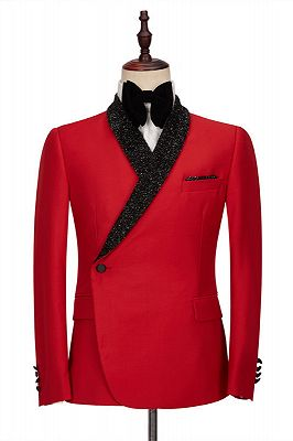 Orlando Red Shaw Lapel Fashion Slim Fit Men's Jacket