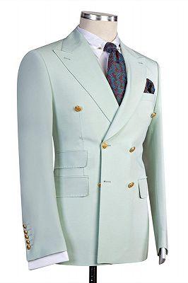 Jaydon Stylish Bespoke Double Breasted Peaked Lapel Prom Men Suits_2