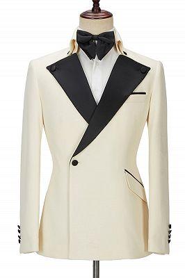 Alvin Off White Slim Fit One Button Stylish Men Suit_1