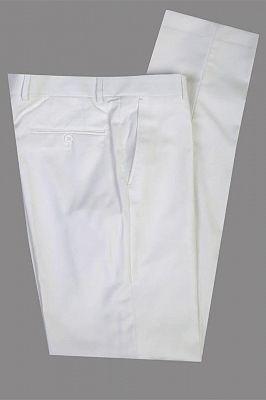 Salvador White Peaked Lapel Slim Fit Fashion Wedding Groom Suit_2