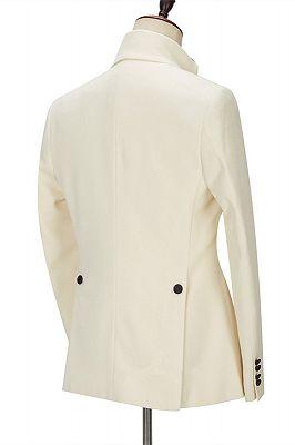 Alvin Off White Slim Fit One Button Stylish Men Suit_2