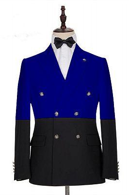 Rocco Bespoke Royal Blue Peaked Lapel Slim Fit Men's Blazer_1