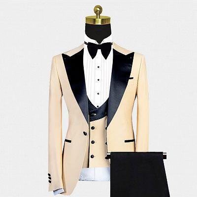 Kobe Handsome Peaked Lapel Slim Fit Men Suit for Prom_2