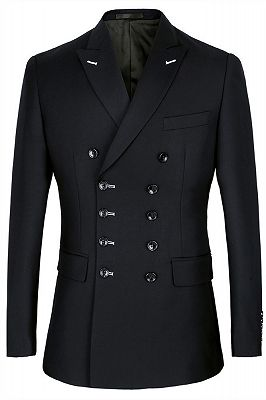 Morgan Handsome Black Slim Fit Double Breasted Business Men Suits