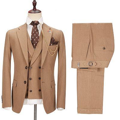 Kellen Stylish New Arrival Notched Lapel Slim Fit Men Suits_2