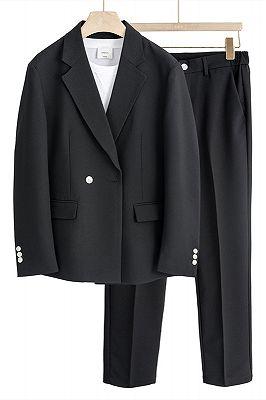Jamari New Arrival Loose Fashion Black Notched Lapel Men Suits_1