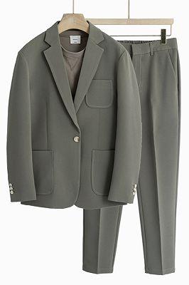 Judah One Button Notched Lapel Loose Men Suits_1