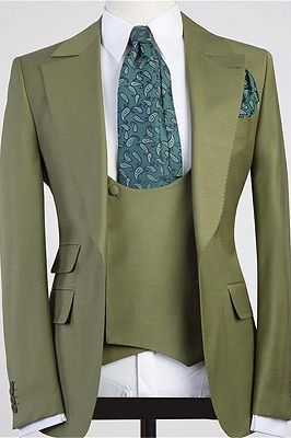 Camron Three Pieces Peaked Lapel Bespoke Men Suit for Prom_1
