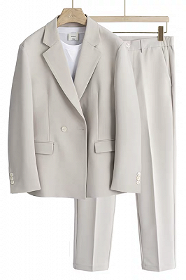 Marshall Off White Handsome Loose Notched Lapel Men Suits for Business_1