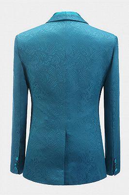 Leland Bespoke Shawl Lapel Jacquard Slim Fit Wedding Men Suits_2