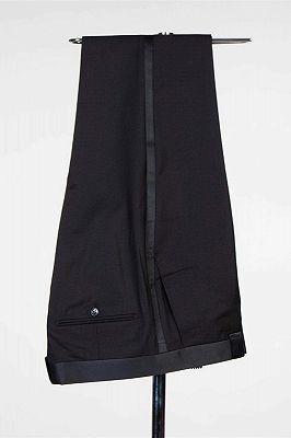 Douglas Simple Black Fashion Shawl Lapel Men Suits for Wedding_3