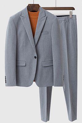 Landyn Gray Bespoke Fashion Peaked Lapel Loose Men Suits_1
