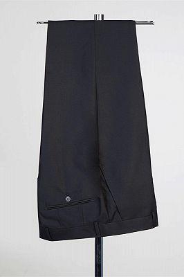 Solomon Stylish Black Peaked Lapel New Arrival Men Suits for Prom_2