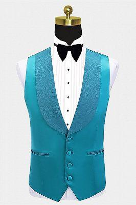Leland Bespoke Shawl Lapel Jacquard Slim Fit Wedding Men Suits_3