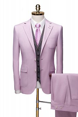 Purple Notched Collar Suit for Prom | Classic Three Pieces Tuxedo_1