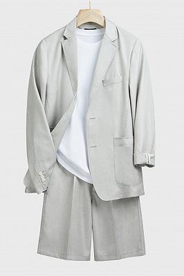 Alec Light Gray Fashion Summer Men Suits with Short Pants_1