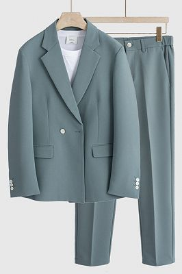Walter Stylish Notched Lapel Loose Summer Men Suits for Prom_1