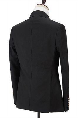 Black Men Suits Online | Peak Lapel Blazer with Double Breasted_2