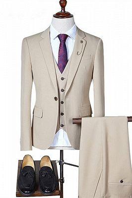 Eddie Three Pieces Notched Lapel Formal Business Men Suits_1