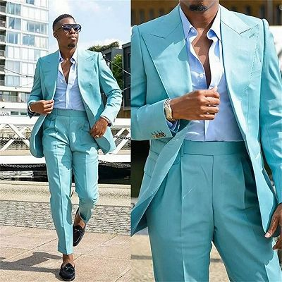 Milo Handsome Peaked Lapel Slim Fit Prom Outfits for Men_2