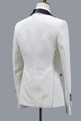 Maverick Stylish Jacquard Slim Fit Shawl Lapel Wedding Men Suits_2