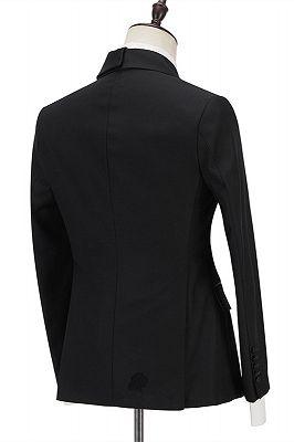 Jadon Black Peaked Lapel Fashion Slim Fit Formal Business Men Suits_2