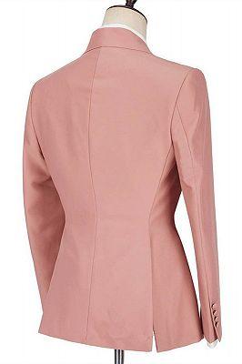 Leonel Pink Peaked Lapel Ruffles Fashion Slim Fit Prom Men Suits_2