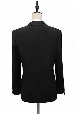 Cyrus Fashion Black Peaked Lapel Slim Fit Men Suits With Adjustable Buckle_2