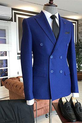 Jorden Royal Blue Fashion Double Breasted Business Men Suits