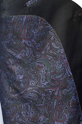 Classic Dark Grey Black Shawl Collar Wedding Tuxedos | Two Buttons Custom Wedding Suits for Men_6