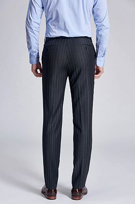 Darius Classic Dark Grey Mens Suit Pants with Stripes_3