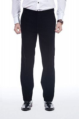 Premium Silk Shawl Lapel Black Velvet Mens Suits Tuxedos for Winter_7