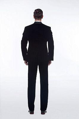 Premium Silk Shawl Lapel Black Velvet Mens Suits Tuxedos for Winter_2