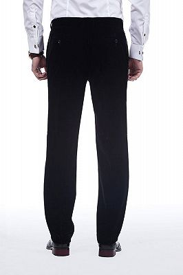 Premium Silk Shawl Lapel Black Velvet Mens Suits Tuxedos for Winter_8