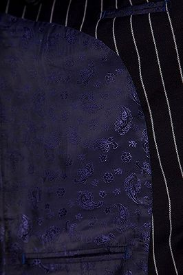 Tristen Modern Stripes Mens Leisure Suits   Black Suits for Prom_7