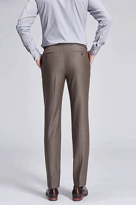 Jalen Formal Straight Solid Brown Casual Mens Pants_3