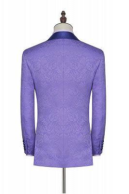 Lavender Jacquard Silk Shawl Lapel Bespoke Prom Suits_2