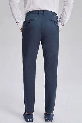 Dark Navy Cotton Fashionable Mens Casual Ninth Pants_3