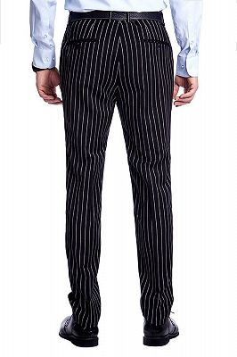 Tristen Modern Stripes Mens Leisure Suits   Black Suits for Prom_10