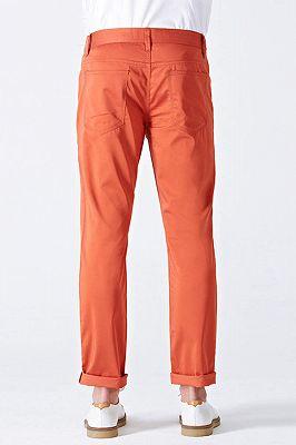 Dynamic Orange Cotton Fahionable Casual Pants for Men_3