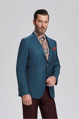 Stylish Solid Greenish Blue Blazers | Casual Suit Jacket_2