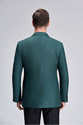 Stylich Green Patch Pocket Peak Lapel Daily Casual Slim Fit Blazer Jacket for Men_4